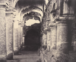 Arcade on the right side of the entrance [to the quadrangle of the Palace, Madurai]